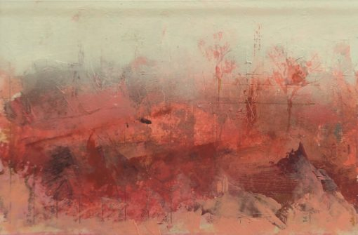 'Autumn's mists.' Mixed media on paper. A4 mounted.