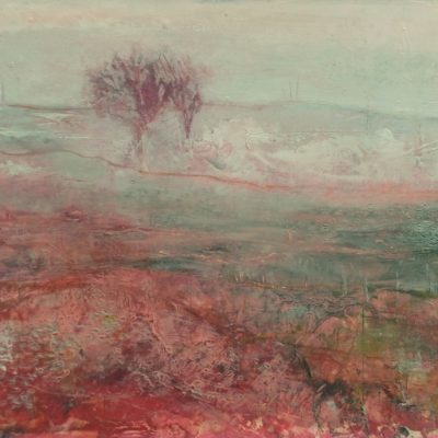 'Season of mists. mixed media on paper . A4 mounted.