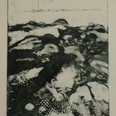 'The ebb and flow.' Copperplate etching.